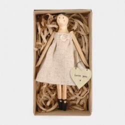 Petite poupée en bois - East of India - Love you