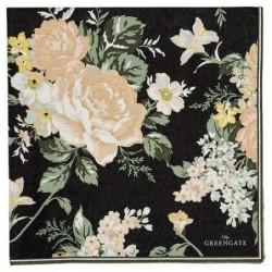 Serviettes en papier - Greengate - Josephine Black