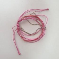 Bracelet rose et argent - Nusa Dua