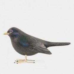 Oiseau sculpté en bois - East of India - Merle
