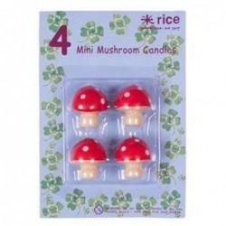 Mini bougies champignons - Rice - 3 cm