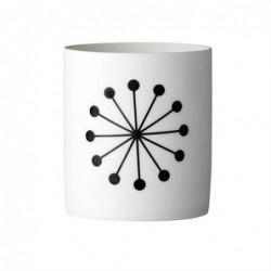 Photophore - Bloomingville - White/black Flower