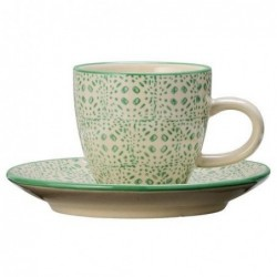 Tasse et soucoupe expresso Isabella - Bloomingville - Green