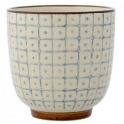 Latte cup Elizabeth - Bloomingville - bleu et marron