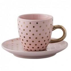 Tasse et soucoupe expresso Henrietta - Bloomingville - Powder gold dots