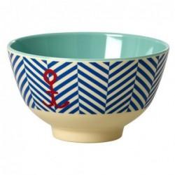 Petit bol en mélamine - Rice - Sailor stripe and Anchor