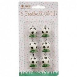 Mini bougies - Ballons de foot - Rice - 3 cm