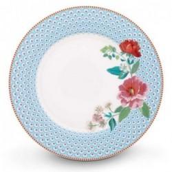 Assiette plate - Floral 2 bleu - Pip Studio - 26.5 cm