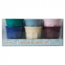 6 Gobelets Mélamine - Rice - Urban colors - 9X9