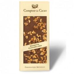 Tablette de chocolat - Gourmande - Lait Noisette caramélisée - 90g