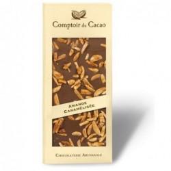 Tablette de chocolat - Gourmande - Lait Amande caramélisée - 90g