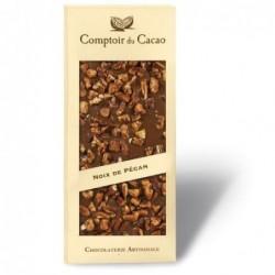 Tablette de chocolat - Gourmande - Lait Noix de Pécan caramélisée- 90g