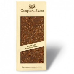Tablette de chocolat - Gourmande - Lait Caramel au beurre salé - 90g