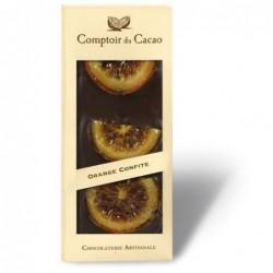 Tablette de chocolat - Gourmande - Noir Orange confite - 90g