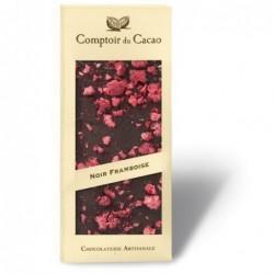 Tablette de chocolat - Gourmande - Noir Framboise - 90g
