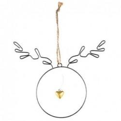 Suspension de Noël - Bijoux d'hiver -  Baden - Cœur d'or