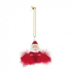 Suspension de Noël - Père Noël plume - Baden - Rouge