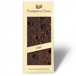 Tablette de chocolat - Gourmande - Noir Café - 90g