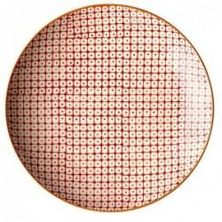 Assiette Pattern - Bloomingville - Rouge - 20cm