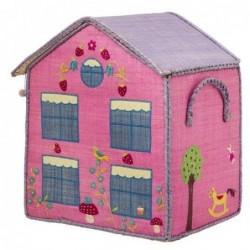 Maison Range Jouets - Maison rose - Medium