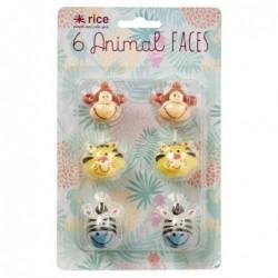 Mini bougies Animal faces - Rice - 4 cm