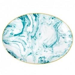 Plat de service porcelaine - Rice - Marble - Jade
