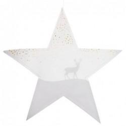 Lot de 2 étoiles en papier - Suspension - Rader - Forest & deer