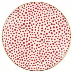 Assiette - Greengate - Dot red