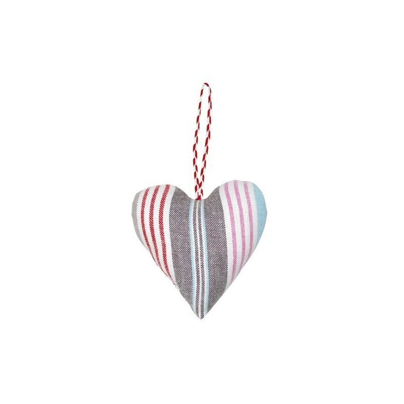 Coeur à suspendre en tissu - Greengate - Zara linen