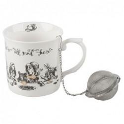 Coffret mug & infuseur - Alice in wonderland - L'heure du thé