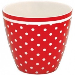 Latte cup - Greengate - Spot red