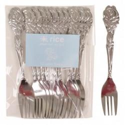 Lot de 12 petites fourchettes en métal - Rice