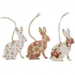 Lot de 15 étiquettes lapins - Vintage Rose - RJB Stone