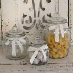 Petit bocal dentelle - Chic Antique - 15 cm