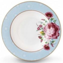 Assiette creuse - Floral 2 bleu - Pip Studio - 21.5 cm
