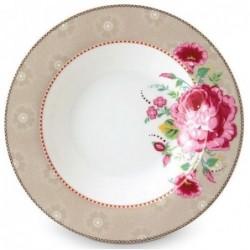 Assiette creuse - Floral 2 kaki- Pip Studio - 21.5 cm