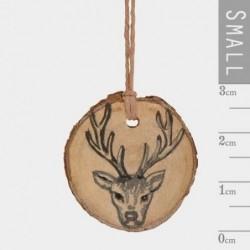 Décoration - Rondin de bois-  East of India - Tête de cerf