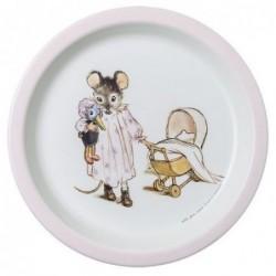 Assiette - Ernest et Célestine - Rose