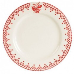 Assiettes à dessert - Comptoir de Famille - Damier rouge