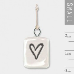 Pendentif porcelaine - East of India - Heart