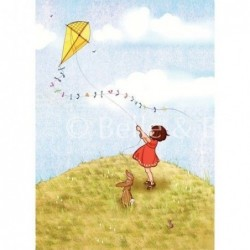 Sérigraphie - Belle and Boo - Fly a kite