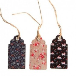 Lot de 15 étiquettes - Vintage Floral  - Sass & Belle