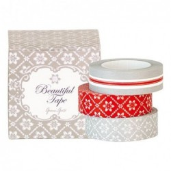 Masking tape - Greengate -Alba warm grey- 3 rouleaux