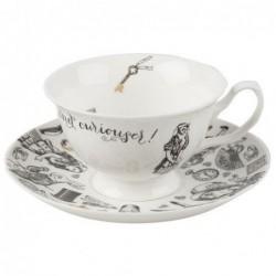Tasse et sous tasse à thé - Alice in wonderland