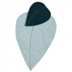 Couverture & oreiller pour poupée - Fabelab - Feuille bleue