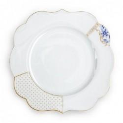 Assiette plate Royal White décorée - Pip Studio - 28cm