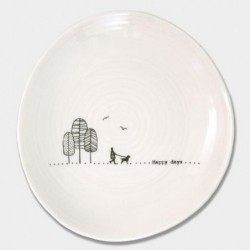 Assiette porcelaine - East of India - Happy day