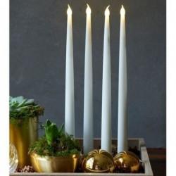 Bougies LED - Sirius - Carolin - Set de 2 - Blanc