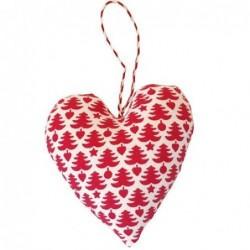 Coeur à suspendre en tissu - Greengate - Tree White