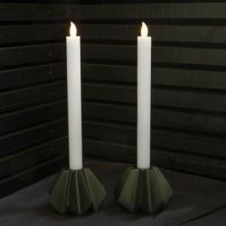 Bougies de bougeoir LED - Sirius - Thea blanche - Set de 2